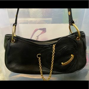 Juicy Couture Black Leather Hand Bag